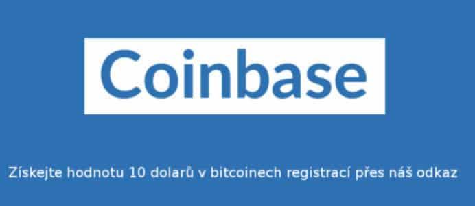 Coinbase - bitcoiny zdarma