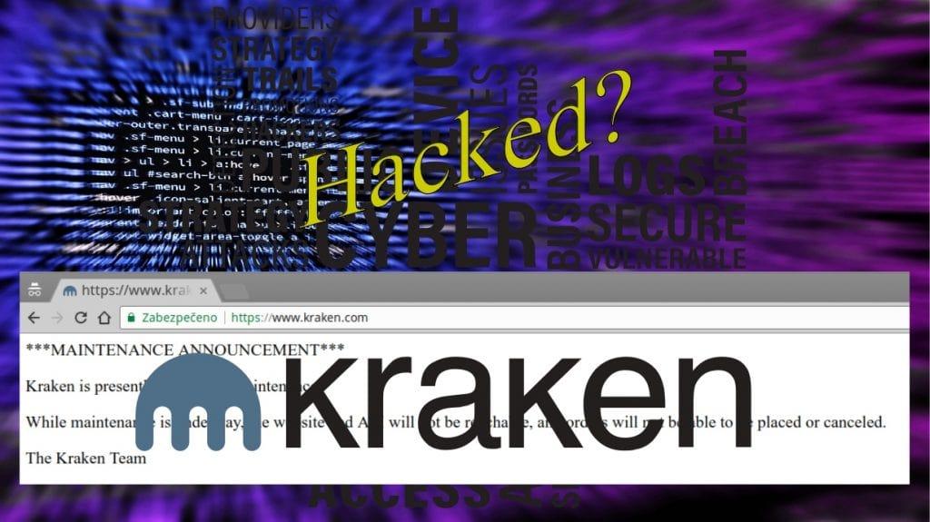 Kraken.com offline, byl hacknutý?