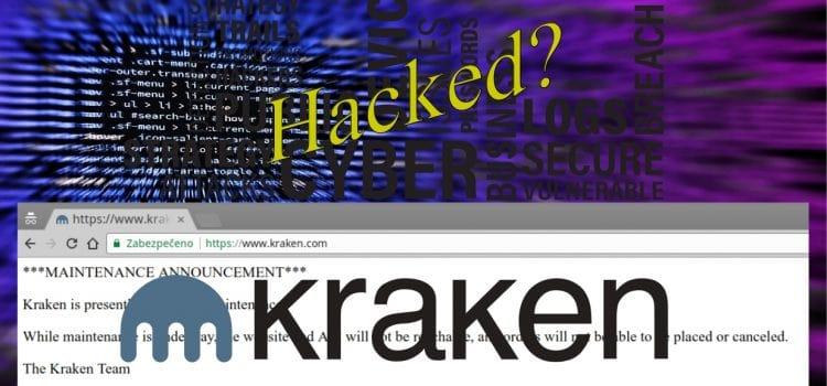Kryptoměnová burza Kraken.com offline – byl hacknutý?
