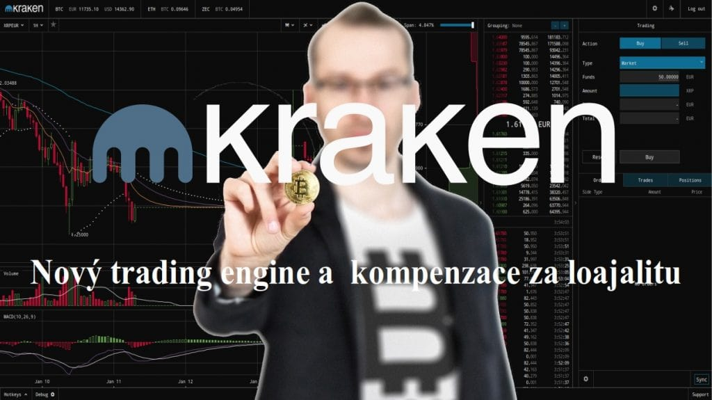 Kraken.com online, nový trading engine a kompenzace