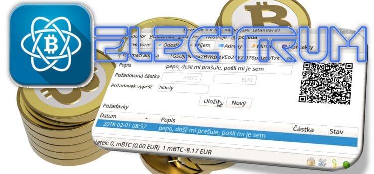Bitcoinová peněženka Electrum
